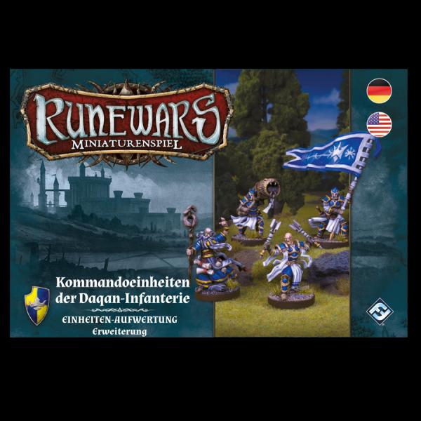 Runewars Miniaturenspiel: Daqan – Kommandoeinheiten der Daqan-Infanterie