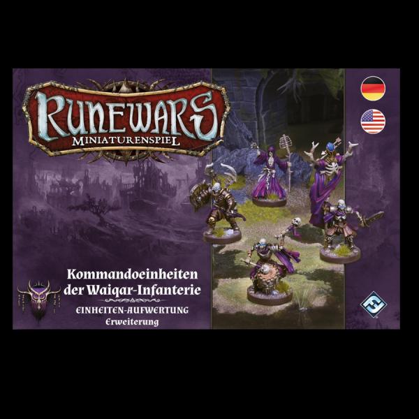 Runewars Miniaturenspiel: Waiquar – Kommandoeinheiten der Waiquar-Infanterie