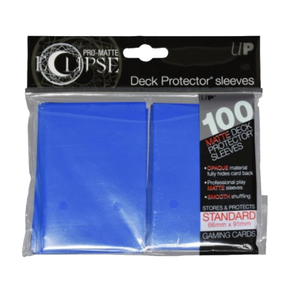 Ultra Pro: Sleeves – Standard Eclipse pro matte (66×91) – Pacific Blue 100 Stk