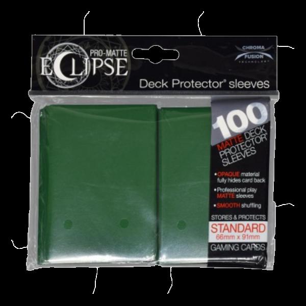 Ultra Pro: Sleeves – Standard Eclipse pro matte (66×91) – dark green 100 Stk