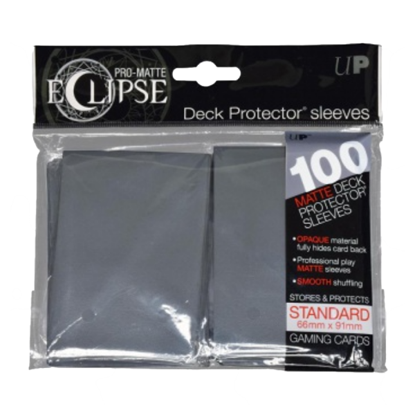 Ultra Pro: Sleeves – Standard Eclipse pro matte (66×91) – Smoke Grey 100 Stk