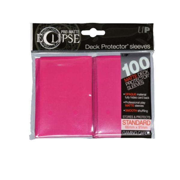 Sleeves Ultra Pro: Eclipse Standard 66×91 Pro Matte – hot pink (100)