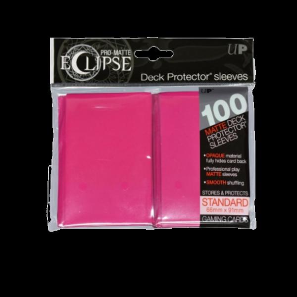 Ultra Pro: Sleeves – Standard Eclipse pro matte (66×91) – hot pink 100 Stk