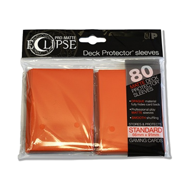 Ultra Pro: Sleeves – Standard Eclipse pro matte (66×91) – orange 80 Stk