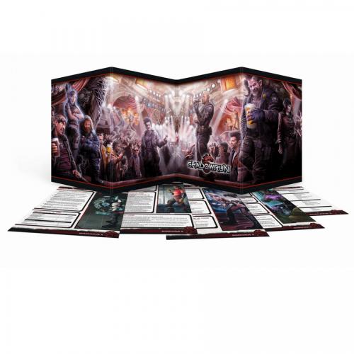 Shadowrun 5: Sichtschirm-Pack (4-seitig im Hardcover) – DE
