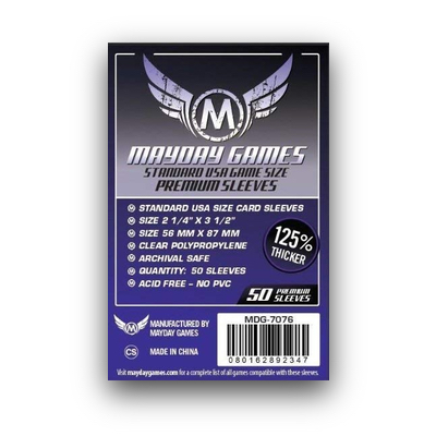 "Mayday Games: Sleeves – American Board Game ""Premium"" (56×87) – 50 Stk"