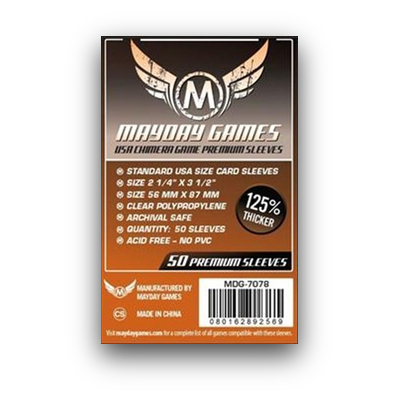 "Mayday Games: Sleeves – USA Chimera Board Game ""Premium"" (56×87) – 50 Stk"