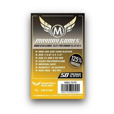 "Mayday Games: Sleeves – Mini USA ""Premium"" (41×63) – 50 Stk"