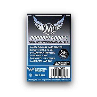 "Mayday Games: Sleeves – Mini European ""Premium"" (45×68) – 50 Stk"