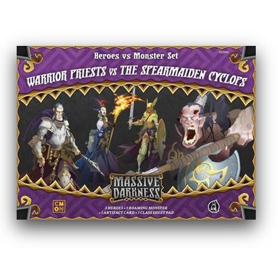 Massive Darkness: Warrior Priests vs the Spearmaiden Cyclops – EN