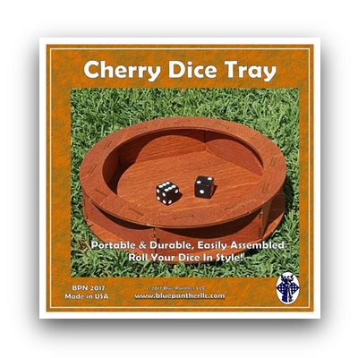 Cherry Dice Tray (Wood Dice Tray)