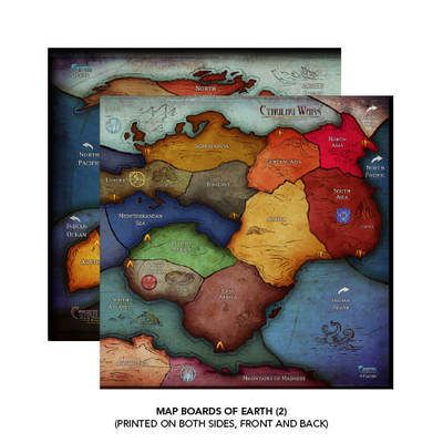 Cthulhu Wars: 6-8 Player Earth Map – EN