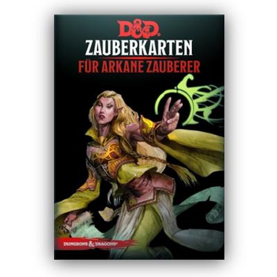 D&D: Zauberkarten für arkane Zauberer – DE