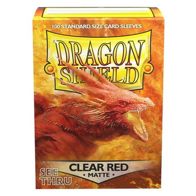 "Dragon Shield: Sleeves – Standard ""Clear Red Matte"" – 100 Stk"