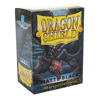 "Dragon Shield: Sleeves – Standard ""Black Matte"" – 100 Stk"