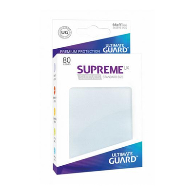 "Ultimate Guard: Sleeves – Standard Supreme ""Transparent Frosted"" (66×91) – 80 Stk"