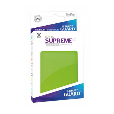 "Ultimate Guard: Sleeves – Standard Supreme ""Hellgrün Matte"" (66×91) – 80 Stk"