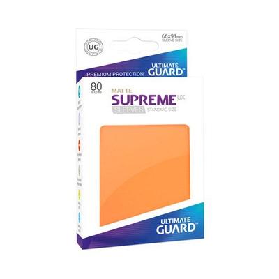 "Ultimate Guard: Sleeves – Standard Supreme ""Orange Matte"" (66×91) – 80 Stk"