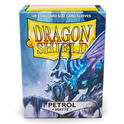 "Dragon Shield: Sleeves – Standard ""Petrol Matte"" – 100 Stk"