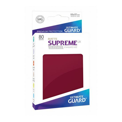 "Ultimate Guard: Sleeves – Standard Supreme ""Burgundrot Matte"" (66×91) – 80 Stk"