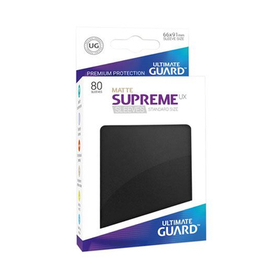 "Ultimate Guard: Sleeves – Standard Supreme ""Schwarz Matte"" (66×91) – 80 Stk"