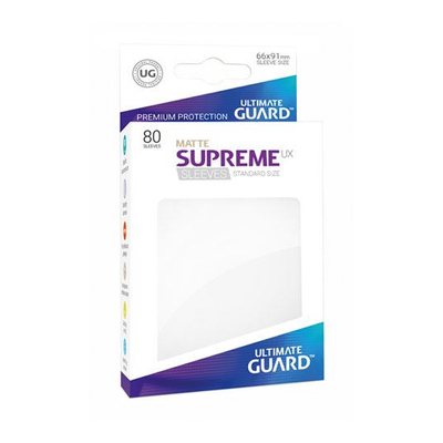 "Ultimate Guard: Sleeves – Standard Supreme ""Weiß Matte"" (66×91) – 80 Stk"