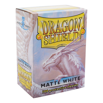 "Dragon Shield: Sleeves – Standard ""White Matte"" – 100 Stk"
