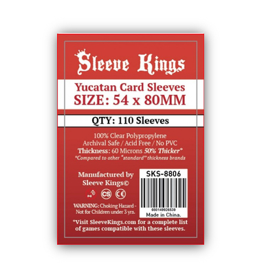 "Sleeve Kings: Sleeves – ""Yucatan"" (54×80) – 110 Stk"