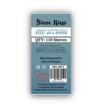 """Sleeve Kings: Sleeves – """"Space Base Compatible"""" (40×89) – 110 Stk"""