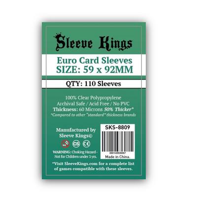 Sleeve Kings: Sleeves – Euro Card (59×92) – 110 Stk