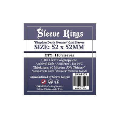"""Sleeve Kings: Sleeves – """"Kingdom Death Monster"""" (52×52) – 110 Stk"""