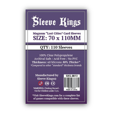 """Sleeve Kings: Sleeves – Magnum """"Lost Cities"""" (70×110) – 110 Stk"""