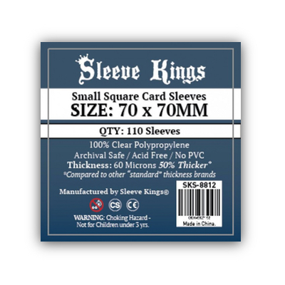 Sleeve Kings: Sleeves – Small Square Card (70×70) – 110 Stk