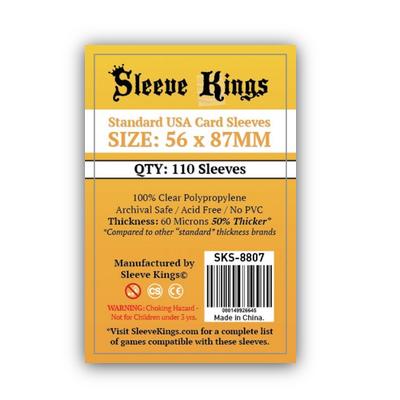 Sleeve Kings: Sleeves – Standard USA Card (56×87) – 110 Stk