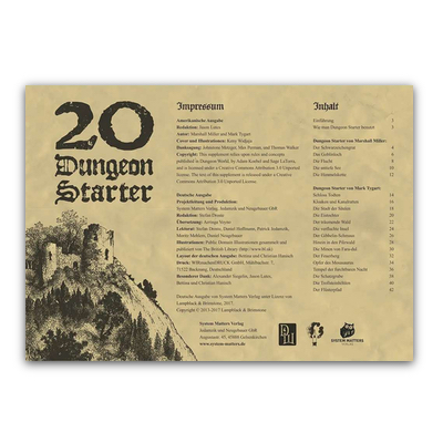 Dungeon World: 20 Dungeon Starter (SC) – DE
