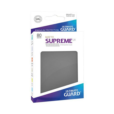 "Ultimate Guard: Sleeves – Standard Supreme ""Dark Grey Matte"" (66×91) – 80 Stk"