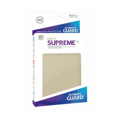 "Ultimate Guard: Sleeves – Standard Supreme ""Sand Matte"" (66×91) – 80 Stk"