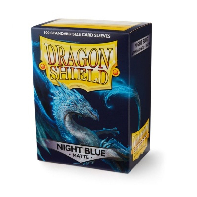 "Dragon Shield: Sleeves – Standard ""Night Blue Matte"" – 100 Stk"