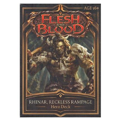 "Flesh and Blood: Welcome to Rathe – Hero Deck ""Rhinar, Reckless Rampage"" – EN"