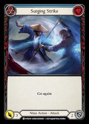 WTR109: Surging Strike (Blue) – (C)