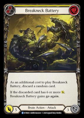 WTR012: Breakneck Battery (Yellow) – (R)
