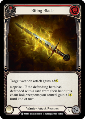 WTR135: Biting Blade (Red) – (C)