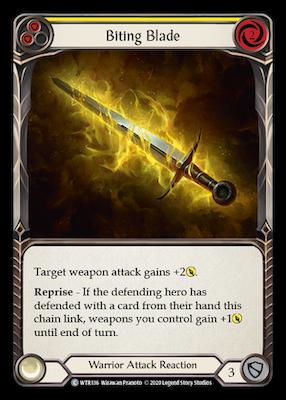 WTR136: Biting Blade (Yellow) – (C)