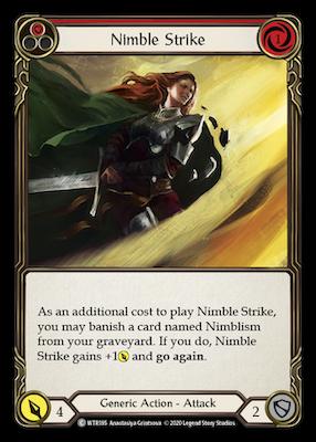 WTR185: Nimble Strike (Red) – (C)