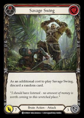 WTR020: Savage Swing (Red) – (C)
