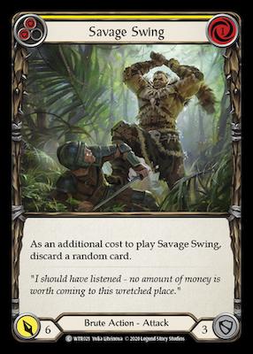 WTR021: Savage Swing (Yellow) – (C)