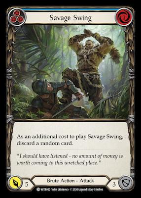 WTR022: Savage Swing (Blue) – (C)