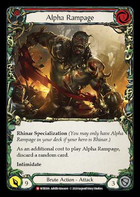 WTR006: Alpha Rampage – (M)