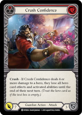WTR063: Crush Confidence (Red) – (C)