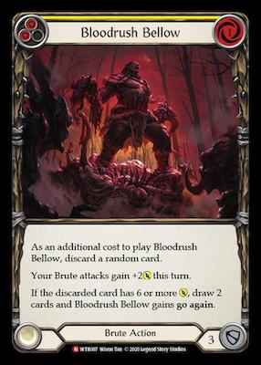 WTR007: Bloodrush Bellow – (M)